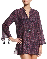 Figue Lisa Floral Print Tunic Coverup