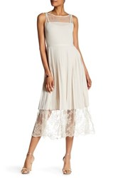 Tracy Reese Lace Inset Jersey Dress Beige