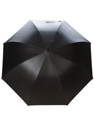Burberry Oversize Check Lined Walking Umbrella Black