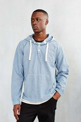Cpo Textured Chambray Hooded Shirt Light Denim Indigo