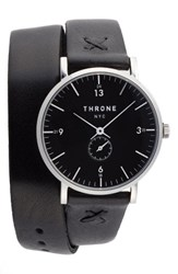 Throne Women's 1.0 Leather Wrap Strap Watch 36Mm