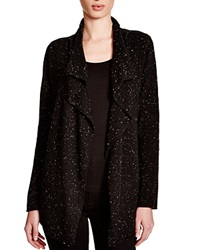 C By Bloomingdale's Moto Cashmere Cardigan Black Donegal