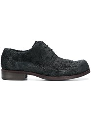 Individual Sentiments Textured Derby Shoes Black