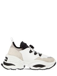 Dsquared 45Mm Rolling Giant Leather Sneakers White