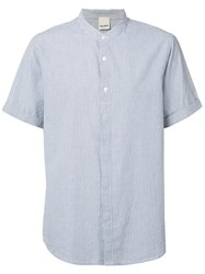Baldwin Mandarin Collar Shirt Blue