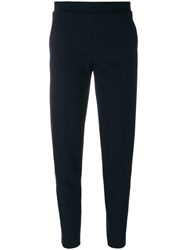 Le Tricot Perugia Tailored Track Pants Elastodiene Polyamide Polyester Viscose M Blue