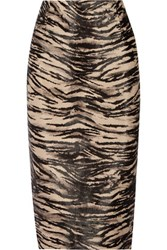 Tamara Mellon Animal Print Calf Hair Pencil Skirt Sand