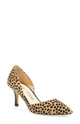 Women's Sole Society 'Jenn' Pointy Toe Pump Cheetah Dot Calf Hair