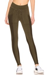 Free People Movement Mid Rise Double Take Legging Army