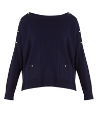 Vanessa Bruno Goupil Wool And Cashmere Blend Sweater Navy