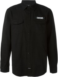 Les Artists Les Art Ists Owens Patch Overshirt Black