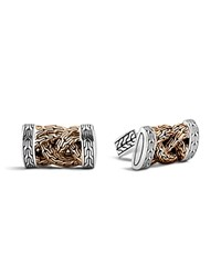 John Hardy Men's Classic Chain Bronze And Silver Braided Cufflinks Brown Silver