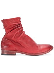 The Last Conspiracy Zipped Boots Leather Red