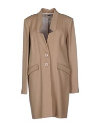 Elisabetta Franchi Coats And Jackets Coats Women Beige
