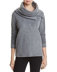 Project Social T Cowl Neck Sweater Heather Black