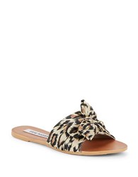 Steve Madden Slip On Flat Sandals Leopard