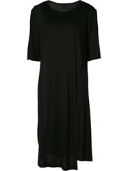 Forme D'expression Layered Jersey Dress Women Viscose Cashmere S Black