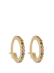 Ileana Makri Diamond Semi Precious Stone And Gold Earrings Yellow Gold