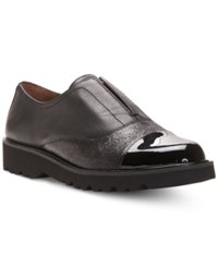 Donald J Pliner Cloud Detailed Slip On Oxford Flats Women's Shoes Black