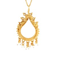 Annabelle Lucilla Jewellery Sikhara Charm Pearl Pendant Gold White Gold