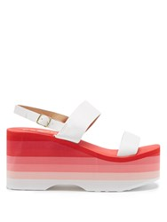 Es X Rd Copa Leather Wedge Sandals White Multi