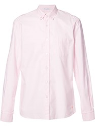 Tomas Maier Button Down Collar Plain Shirt Pink Purple