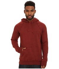 Obey Monument Pullover Hoodie Heather Burgundy Men's Sweatshirt