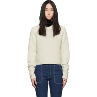 Chloe Off White Wool Cashmere Chunky Sweater
