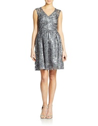 Decode 1.8 Sequined Filigree Embroidered Dress Grey