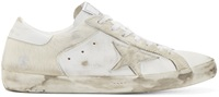Golden Goose White Calf Hair Low Top Superstar Sneakers