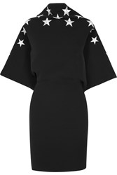 Gareth Pugh Embroidered Open Back Crepe Dress Black
