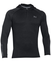 Under Armour Men's Tech Popover Henley Hoodie Blk Stl