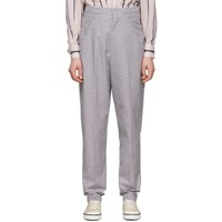 Etoile Isabel Marant Black And Pink Linen Loulia Trousers