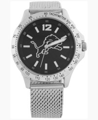Game Time Detroit Lions Cage Series Watch Silver Black