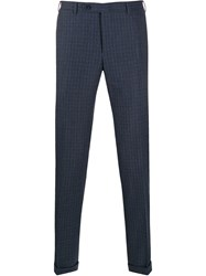Canali Checked Slim Fit Trousers 60