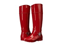 Michael Michael Kors Fulton Harness Tall Rainboot Red Rubber 1 Women's Pull On Boots
