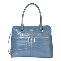 Modalu Pippa Classic Leather Grab Bag Denim Blue