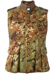 Dsquared2 'Runway Livery Tenent' Camouflage Vest Green
