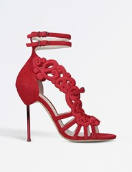 Sophia Webster Albany Pin Heel Sandals Red