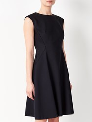 John Lewis Savannah Fit And Flare Dress Navy