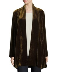 Eileen Fisher Velvet Long Shawl Collar Jacket Petite Serpentine