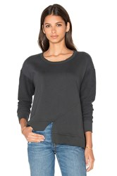 Wilt Slouchy Slanted Shifted Sweatshirt Charcoal