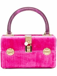 Dolce And Gabbana Box Tote Pink Purple
