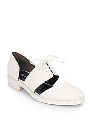 Kenneth Cole Swinden Leather Lace Up Oxfords White
