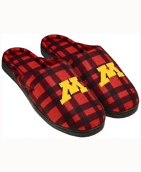 Forever Collectibles Minnesota Golden Gophers Flannel Slide Slippers Maroon