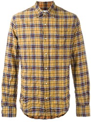 Faith Connexion Plaid Shirt Yellow Orange