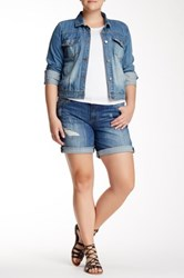 Kut From The Kloth Katy Boyfriend Short Plus Size Blue