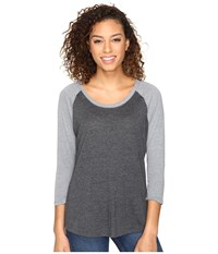 Hurley Staple Easy Raglan Heather Black Heather Cool Grey Women's Long Sleeve Pullover