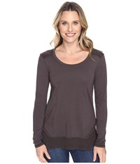 Mod O Doc Classic Jersey Long Sleeve Tee W Thermal Contrast Dark Nickel Women's T Shirt Metallic