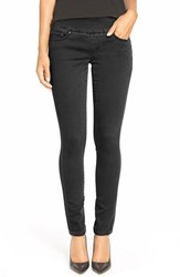 Petite Women's Jag Jeans 'Nora' Knit Denim Pull On Skinny Jeans Black